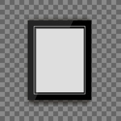 Photo Frame template .Photo frame templates . Picture or photo frame isolated on transparent background. Vector illustration.