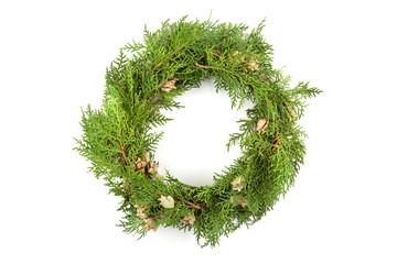 Christmas wreath close up