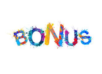 Bonus. Word of splash paint letters