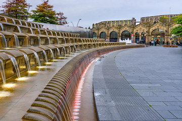 Foto op Canvas Treinstation Train Station Sheffield Yorkshire