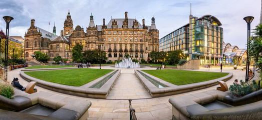 Peace Garden Town Hall Sheffield UK