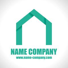 logo constructeur maison artisan construction vert