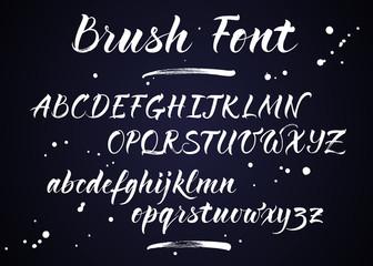 Brush lettering vector alphabet. Modern calligraphy, handwritten letters