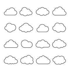 Clouds line art icon