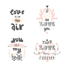 handdrawn lettering about love