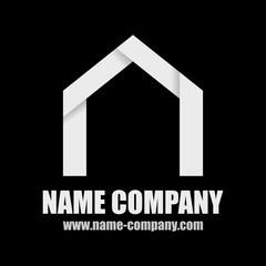 logo constructeur maison artisan construction blanc