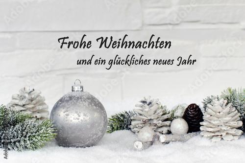 Frohe Weihnachten und ein glückliches neues Jahr\