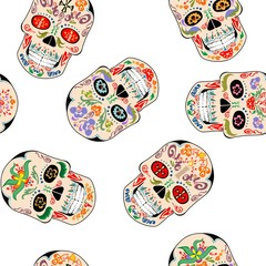 Wallpaper with mexican skull