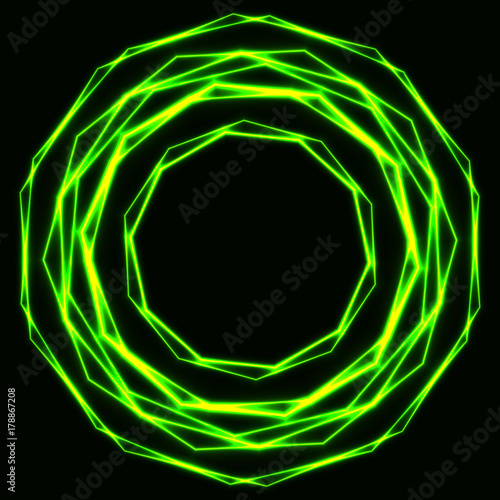 vector luminous id background glowing circles light abstract effect swirl decorative rings blue f neon