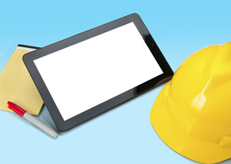 Tablet Used for Construction Blueprints