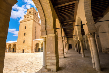 Courtyard of Great Mosque of Kairouan. Tunisia, North Africa