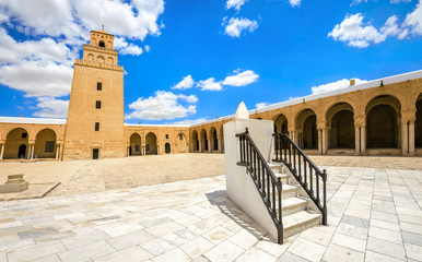 Sundial of Great Mosque in Kairouan. Tunisia, North Africa