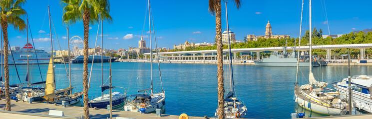 Malaga seaport. Andalusia, Spain