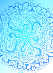 Mandala simple thin line stylish background. Ornamental vector backdrop for cards, invitations, banner, templates and wallpapers