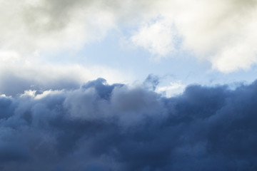 blue cloudy rainy cloud