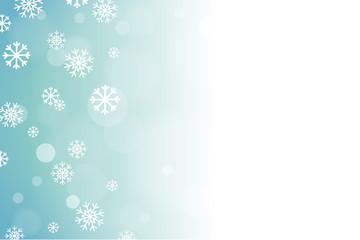 Blue Soft Focus Snow Vector Horizontal Background 1