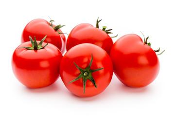 Tomato isolated on white background.