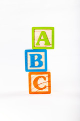Alphabet Blocks A B and C