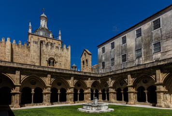 The Old Cathedral of Coimbra, Portugal.