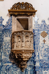 Pulpit in the Monastery of Santa Cruz in Coimbra, Portugal.