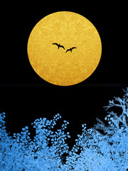 カップル 月