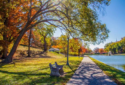 Italian Lake in Harrisburg in the Fall