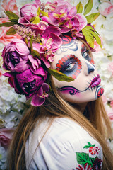 carnival muertos makeup
