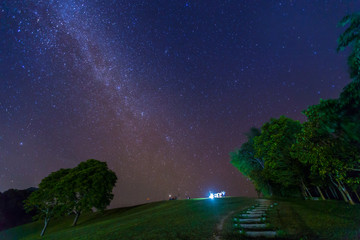 Doi Samer Daw, Night photography of milky way in Sri Nan national park, Thailand