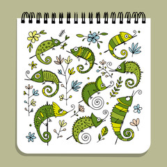 Notebook design, hameleon set