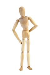 木製マネキン人形/クリッピングパス付き