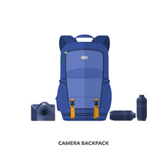 Camera backpack for travel.