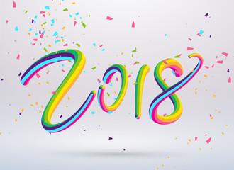 2018 font design, festival background.