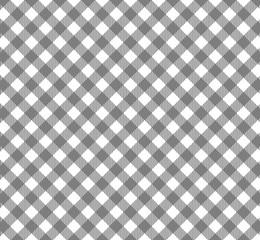 Diagonales Tischdeckenmuster grau weiß