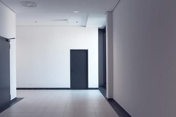 Empty corridor in modern business office building