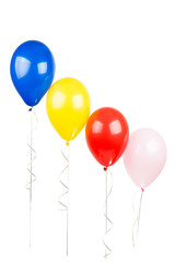 air colored balloons isolated