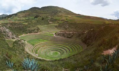 Panorama of moray sacred valley Fototapete