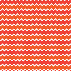 Retro chevron pattern background with white, red and orange colors. Vector illustration, template.