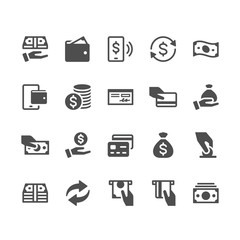 Money glyph icons