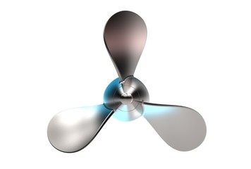 3d illustration of boat propeller isolated on white Wall mural