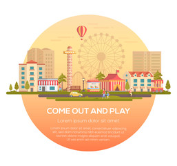 Come out and play - modern vector illustration