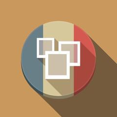 Long shadow France flag with a few photos