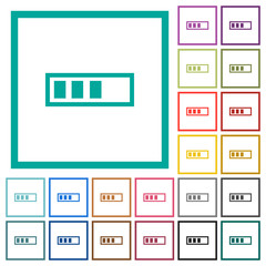Progressbar flat color icons with quadrant frames