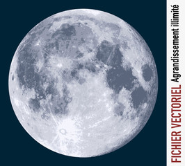 lune - clair de lune - vecteur - espace - plan&egrave