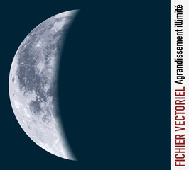 lune - croissant de lune - vecteur - espace - planète, univers - satellite - illustration