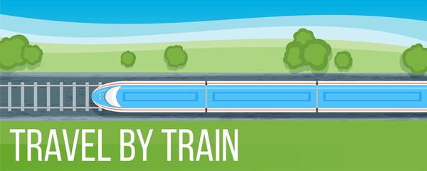 Train travel banner