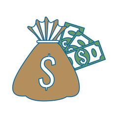 money bag with bills