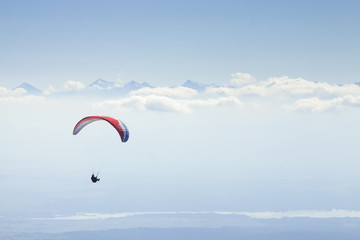 Paraglider in Mid-Air, Tatra Mountains