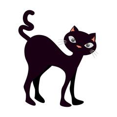 funny black cat icon