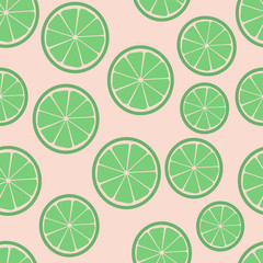 lime slices seamless pattern