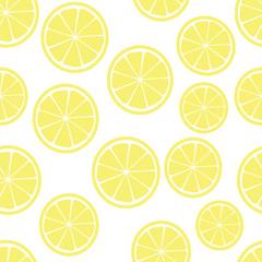 lemon slices seamless pattern